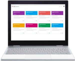 Screenshot Google Classroom Management Tool Übersicht