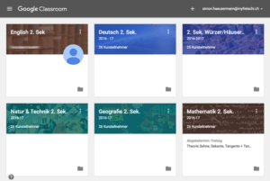 Screenshot Google Classroom E-Learning Videokonferenztool