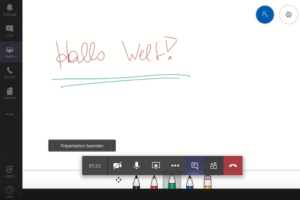 Screenshot MS Teams E-Learning Videokonferenztool Whiteboard